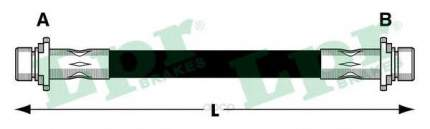 Шланг тормозной Lpr 6T48027