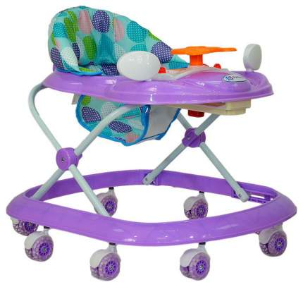 Ходунки детские Farfello фиолетовый, принт круги