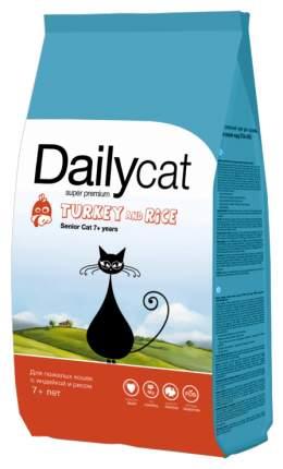 Сухой корм для кошек Dailycat Senior, для пожилых, индейка с рисом, 1,5кг