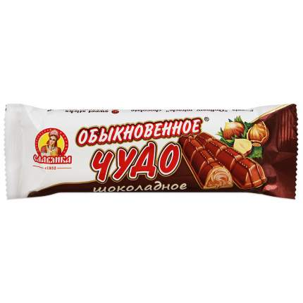 Батончик Славянка обыкновенное чудо сливочное в шоколадной глазури 55 г