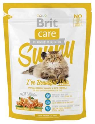Сухой корм для кошек Brit Care Sunny Beautiful Hair, для кожи и шерсти, лосось, 0,4кг