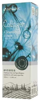 3W Clinic Очищающая пенка Collagen Foam Cleansing 100 мл