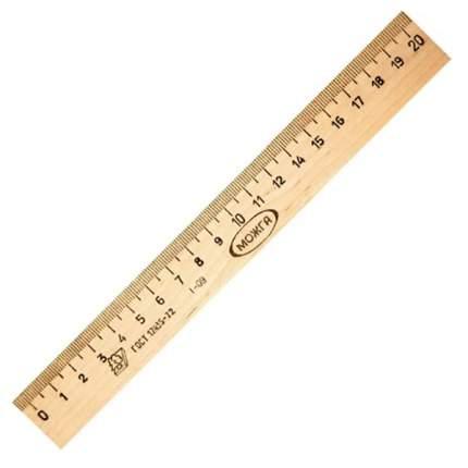 Красная звезда (Можга) Линейка деревянная 20 см,, арт, 0223140