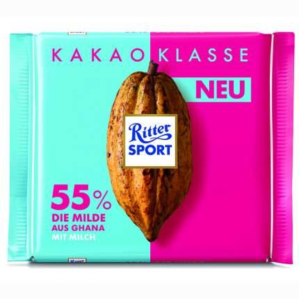 Шоколад молочный Ritter Sport из Ганы 55% какао 100 г