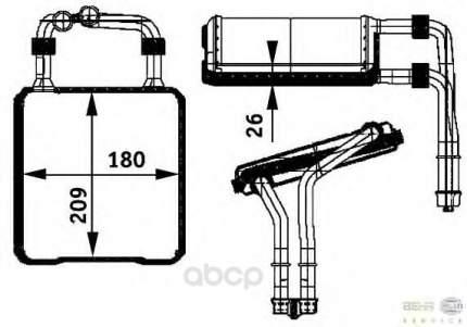 Теплообменник, отопление салона легковой автомобиль Hella 8FH351311-191