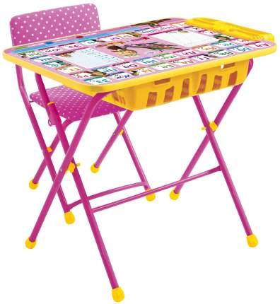 Комплект мебели Nika kids Азбука: Маша и Медведь стол 60х45 см с пеналом и стул розовый