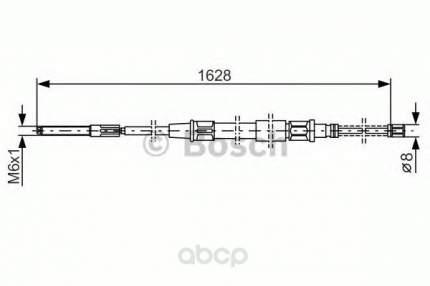 Трос cтояночного тормоза Bosch 1987477169