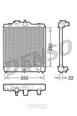 Радиатор 350x350 Denso DRM40003