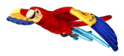 Мягкая игрушка Hansa Попугай Ара красный летящий 76 см