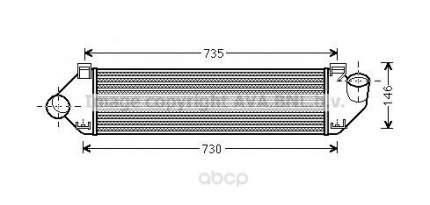 Радиатор охлаждения двигателя Ford Mondeo, S-Max Ava FDA4438