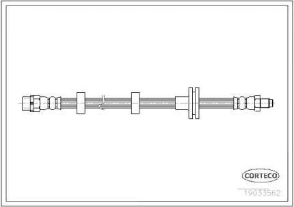 Шланг тормозной CORTECO 19033562