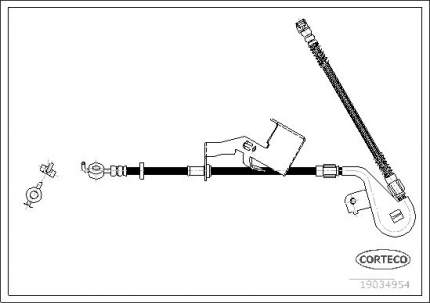 Шланг тормозной CORTECO 19034954