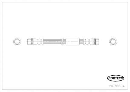 Шланг тормозной CORTECO 19036604