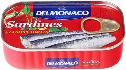 Сардины Delmonaco в томатном соусе 125 г