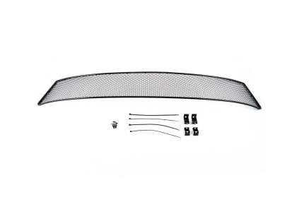 Сетка на бампер внешняя arbori для Skoda Rapid 2014, черная, 15 мм, с ПТФ