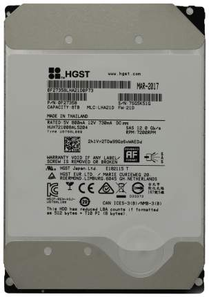 Внутренний жесткий диск HGST Ultrastar HE10 8TB (HUH721008AL5204)