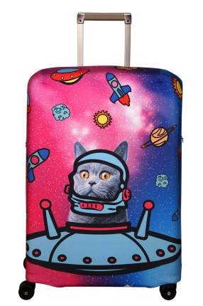 Чехол для чемодана Routemark Ракета M/L SP180 розовый
