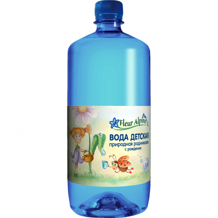 Вода детская Fleur Alpine питьевая с рождения 1 л 6 шт.