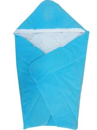 Конверт-одеяло Папитто велюр с вышивкой Голубой 2157