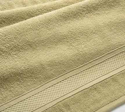 Полотенце махровое с бордюром (оливковое) 40х70