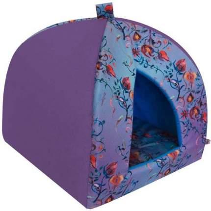 Дом-вигвам для собак Цветы/Бабочки ZOOEXPRESS сиреневый 38х38х40см
