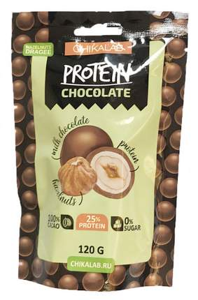 Протеиновое драже в шоколаде Chikalab фундук в шоколаде 120 г