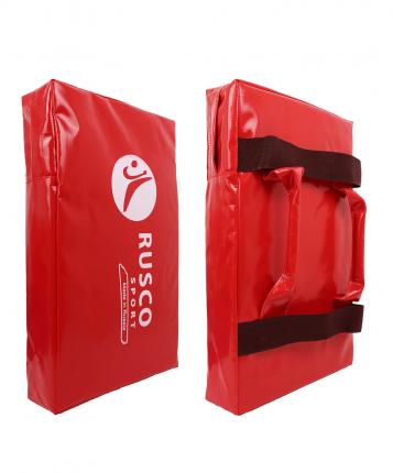 Макивара Rusco Sport 3 ручки 30х50х12, тент, красный