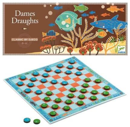 Семейная настольная игра Djeco Dames Draughts Шашки 5211