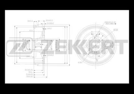 Тормозной барабан ZEKKERT BS-5090