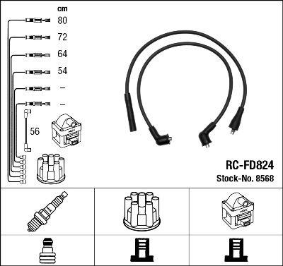 Комплект проводов зажигания NGK 8568
