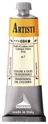 Масляная краска Maimeri Artisti кадмий желтый темный 40 мл