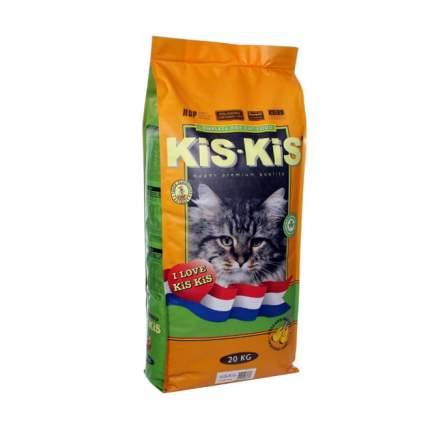 Сухой корм для кошек KiS-KiS, рыба, домашняя птица, 20кг