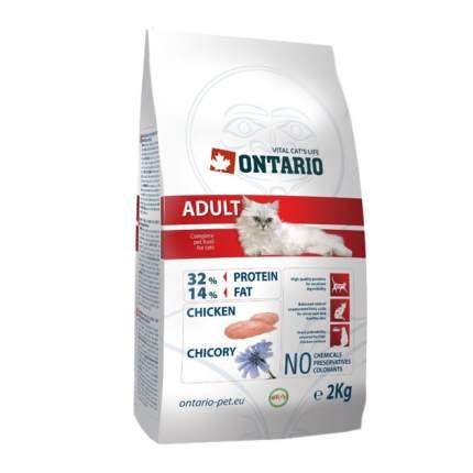 Сухой корм для кошек Ontario Adult, курица, 2кг