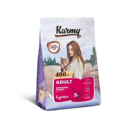 Сухой корм для кошек Karmy Adult, курица, 0,4кг
