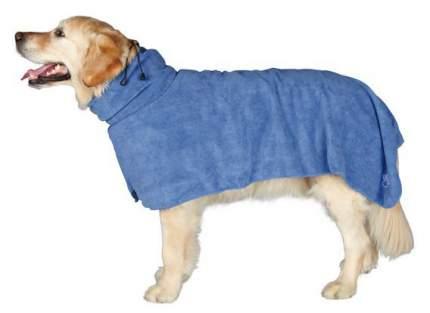 Полотенце-попона для собак TRIXIE Bathrobe Microfiber XL, микрофибра, синее, размер 75 см