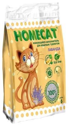 Наполнитель для кошачьего туалета Homecat Эколайн комкующийся, лаванда, 6 л