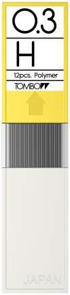 """Грифели для механических карандашей Tombow """"Mono"""", 0,3 мм, H, 12 штук"""