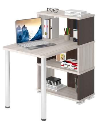 Компьютерный стол Мэрдэс бежевый/коричневый/серый