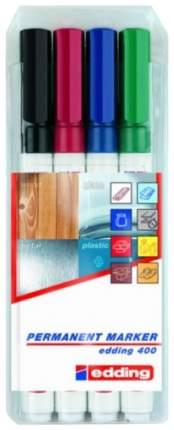 Набор перманентных маркеров круглых Edding 1 мм, 4 цвета в наборе, блистер
