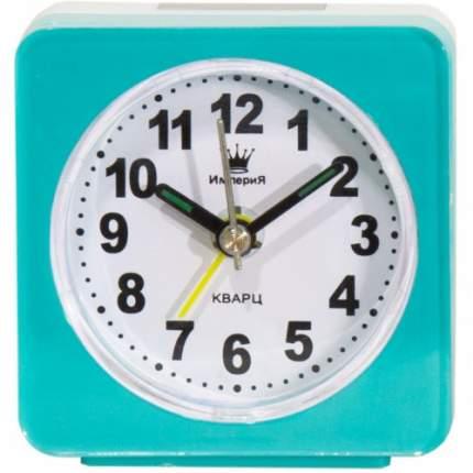 Часы-будильник Империя Часы будильник настольные квадратные бирюзовые 4501064 4501064