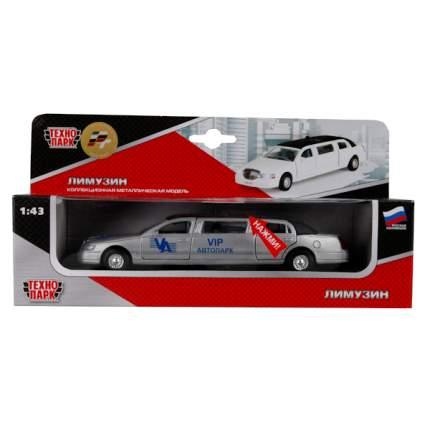Машина Технопарк инерционная, металлическая лимузин vip автопарк, со светом и звуком