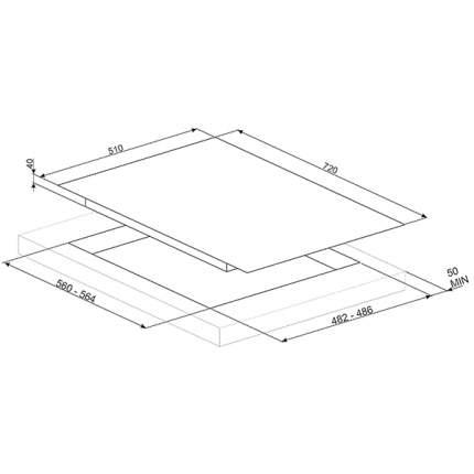 Встраиваемая варочная панель газовая Smeg PV175CB White