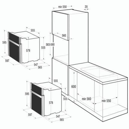 Встраиваемый электрический духовой шкаф Gorenje BO7349RW Beige