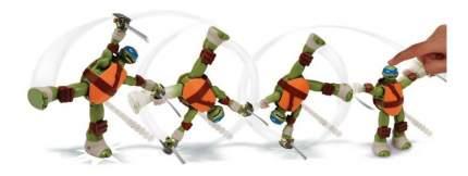 Заводная фигурка черепашки-ниндзя 15см суперколесо лео