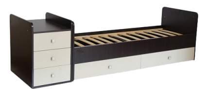 Кровать-трансформер Фея 1100 венге/бежевая