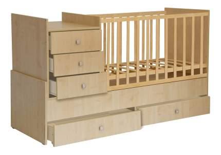Кровать-трансформер Polini Simple 1000 натурального цвета