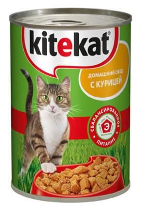 Консервы для кошек KiteKat Домашний обед, курица, 410г