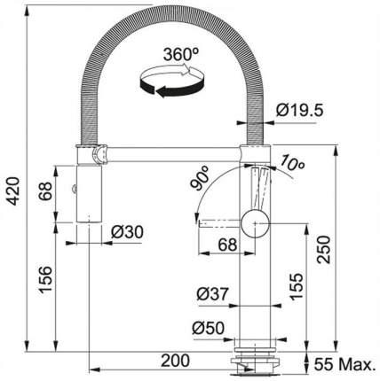 Смеситель для кухонной мойки Franke Pescara Semipro L 115.0472.960 хром
