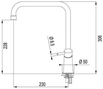 Смеситель для кухонной мойки Franke Galileo 115.0289.844 белый