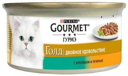 Консервы для кошек Gourmet Gold, кролик, печень, 85г